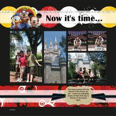 Kit used: Creative Memories Mickey & friends pre-designed (LHP)