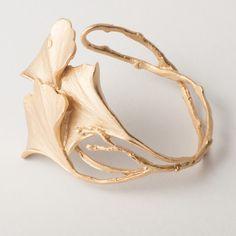 Michael Michaud Ginkgo Cuff Bracelet - Gold alt 1 img image thumb