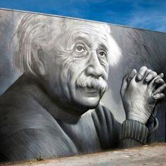 "Street art ""Einstein"" by Owen Dippie. This fabulous Artist is from my hometown of Kawerau in New Zealand. Very proud. Keva xo."