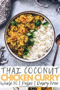 Crockpot Curry Chicken Recipe, Thai Coconut Curry Chicken, Crock Pot Curry, Healthy Crockpot Recipes, Health Recipes, Chicken Recipes, Crock Pot Thai Chicken Curry, Thai Curry, Healthy Tips