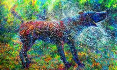 Canis Major, a new wet dog painting by Iris Scott. Available on UGallery.