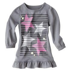 Circo® Newborn Girls' Long-sleeve Dress - Gray
