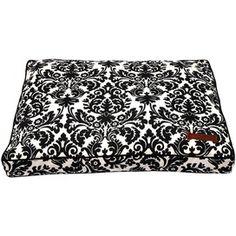 Dog Bed - Indoor/outdoor, black & white damask print!