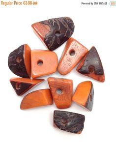 Tagua Dreiecke groß hellbraun 5 Stück 20mm Taguaperlen eckige große Perlen