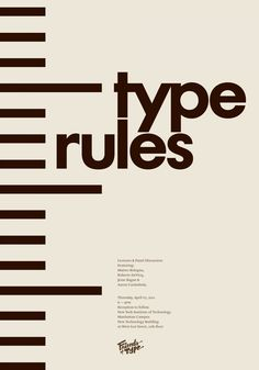 Friends of Type - Type Rules - Aaron Carámbula