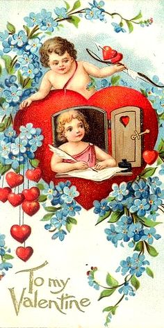 I pen lovely thoughts of you my valentine