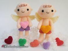 Ангел с валентинкой. Куколка амигуруми крючком (6)
