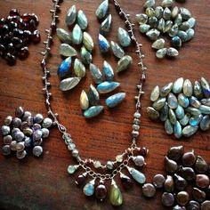 #Harmonyscottjewelry gorgeous pearls. Totally agree! Love Labradorite #harmonyscottwishlist
