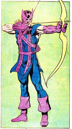 Hawkeye - mark gruenwald real name: clinton francis barton place of Avengers Characters, Marvel Comic Character, Comic Book Characters, Comic Books Art, Comic Art, Marvel Art, Marvel Heroes, Marvel Comics, Hawkeye Comic