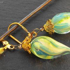 Belles boucles d'oreille perles murano faites main bcl.2493