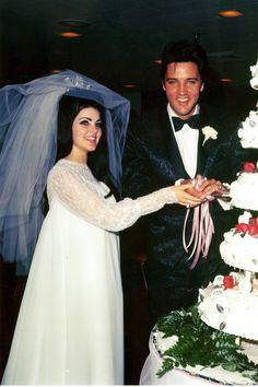 Elvis Presley and Priscilla   - HarpersBAZAAR.com