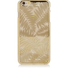 iPhone 6 PLUS 6S PLUS Gold Palm Case ($20) ❤ liked on Polyvore featuring accessories and tech accessories