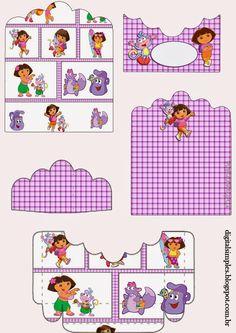 Dora: Soporte para Golosinas para Imprimir Gratis.
