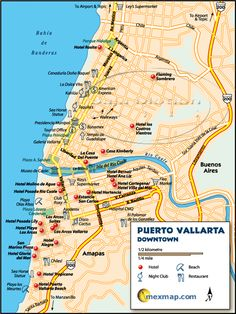 Puerto Vallarta Mexico Maps Good selection of maps