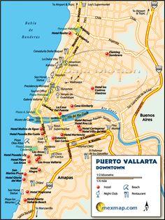 Puerto Vallarta Mexico Maps Good selection of maps
