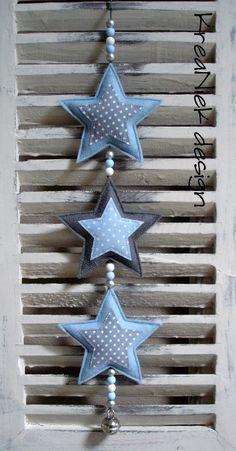 sterren slinger vilt € 8,95 - licht blauw / grijs