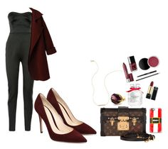 """""""christmas dinner outfit inspiration"""" by viennaelgiva on Polyvore featuring Antonio Berardi, Louis Vuitton, Casetify and Victoria's Secret"""