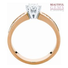 Engagement Ring with a 1 Carat (TDW) of Diamonds in 18ct Yellow & White Gold – 1841003003