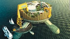 The first permanent businesses on the high seas could be sovereign floating hospitals that provide cutting-edge care to patients who choose them. Design concept by Edward McIntosh, 2014, Ecuador. Usa Today, Build Your Own, Hospitals, Seas, Ecuador, Fair Grounds, Concept, Country, Building