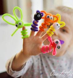 Ujjbábok pipatisztítóból - zseníliadrót figurák gyerekeknek / Mindy - kreatív ötletek és dekorációk minden napra