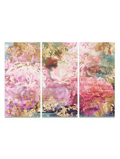 Rose Rhapsody Triptych (Canvas) by Oliver Gal at Gilt