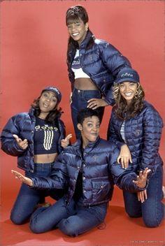 Beyonce With The Original Destiny Child Kelly Latavia And Letoya… 00s Fashion, Hip Hop Fashion, Fresh Prince, Linda Evangelista, Original Destiny's Child, Black Girl Magic, Black Girls, Urban Outfitters, Grunge