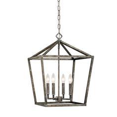 Antique Silver 16 Inch Four Light Pendant Millennium Lighting Lantern Pendant Lighting Cei