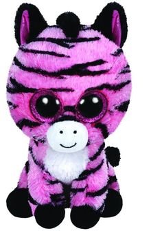 Ty Zoey the Pink & Black Zebra Beanie Boos Stuffed Animal Plush Toy