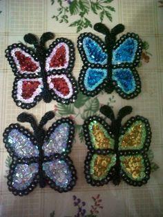 Apliques para murga: mariposas