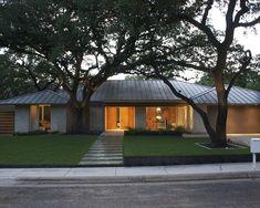 mid century modern roof styles