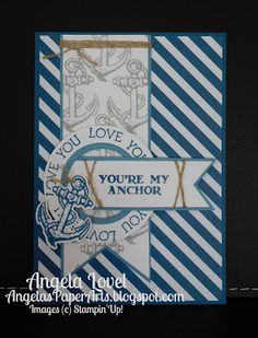 Sneak Peek of Dapper Denim, one of Stampin' Up!'s new 2016-18 In-Colors from the SU 2016-17 annual catalogue available 1 June. Also features the Guy Greetings stamp set. More details on my blog. #OnStage2016, #angelaspaperarts