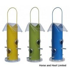 Rutland Seed Feeder - Rutland Seed Feeder Traditional style tube seed feeders available in a range of contemporary colours. 5 x 14 x Made of Metal and plastic Stylish Feeder from Supa Ltd. Bird Feeders Amazon, Bird Feeders For Sale, Bird Seed Feeders, Wild Bird Feeders, Garden Clearance, Bird Feeder Plans, Homemade Bird Feeders, Small Birds, Wild Birds