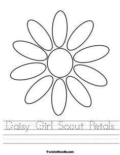 Daisy Girl Scout Petals Worksheet from TwistyNoodle.com