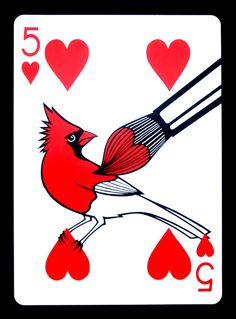 2 feet tall paper-cut playing card. The Clipped Wings deck. www.emmanueljose.com