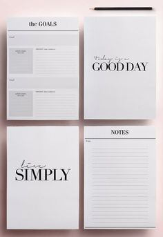 Get organized in style with these modern Printable Planners. This minimal planner will fulfil all your planning needs and give you the tools to plan every day for many years to come, whilst remaining beautifully designed with its black and white design. This pack is perfect for everyone who, like me, is a million times more efficient when things are written down on a beautiful list! Perfect for yourself, a colleague, a classmate and all the super Mums out there. ════════════════ Features…