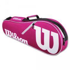 Wilson Advantage II Backpack - Black/white for sale online Wilson Tennis Bags, Wilson Tennis Racquets, Tennis Racket, Work Bags, Best Bags, Black Backpack, Large Tote, Pink White, Black White