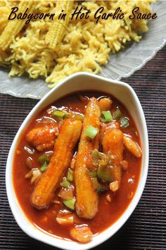 Baby Corn in Hot Garlic Sauce Recipe - Hot Garlic Baby Corn Recipe - Yummy Tummy Kids Cooking Recipes, Vegetarian Cooking, Kitchen Recipes, Easy Cooking, Vegetarian Recipes, Appetiser Recipes, Snack Recipes, Indian Foods, Indian Food Recipes