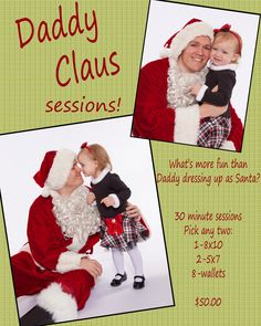 Daddy Claus Christmas Card