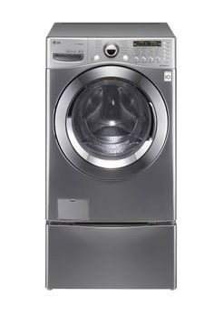 LG SteamWasher 3.9 Cu. Ft. 12-Cycle Extra-Large Capacity Steam Washer - Graphite Steel.