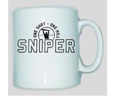 Tasse Sniper one shot one kill / mehr Infos auf: www.Guntia-Militaria-Shop.de