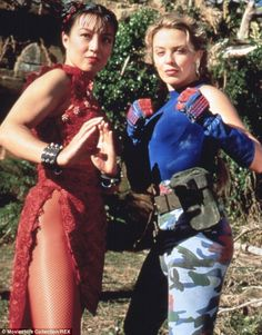 Fighting flashback: #Ming-NaWen (Agents of SHIELD) and #KylieMinogue starred in the 1994 #StreetFighter movie, which was filmed on the Gold Coast in Australia