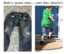 Tutorial: Hole-y Kids' Jeans into Cute Shorts!