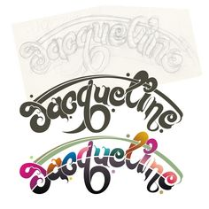 """Jacqueline "" Typography Font Logo Creation Work by kunjan virani"