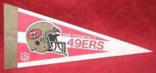 Vintage SAN FRANCISCO 49ERS late 1980's mini pennant  NFL Football pinhole