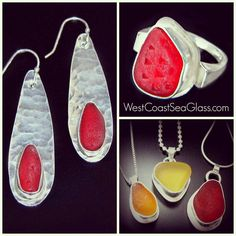 Red sea glass jewelry is 40% off now at WestCoastSeaGlass.com. Coupon code : Red40 #seaglass #seaglassjewelry #beachglass #redseaglass #love #valentine