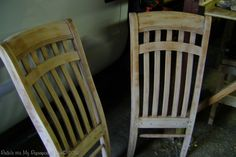 Adorable Corner Bench made from 4 Chairs