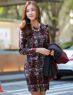 Romantic & Trendy Looks, Styleonme Office Looks, How To Look Classy, Lovely Dresses, Fashion Outfits, Womens Fashion, Asian Fashion, Asian Woman, Girl Photos, Asian Beauty