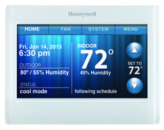 Today #EfficientHomeSolutions is here to help you reduce your Energy Consumption through Honeywell 9000 programmable, wi-fi connectable thermostat!   The power is your hands with this Thermostat.   You can Program it to be set at a higher temperature when you are not at the house and you can have the house cold and ready for your arrival by changing the temperature on your Smart Phone.  Good for Worlds Energy consumption and for YOUR wallet.  Call us to have one installed today! 972-235-2600