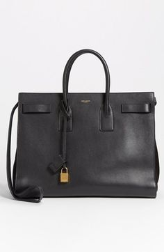 // Saint Laurent 'Sac de Jour' Leather Tote Noir