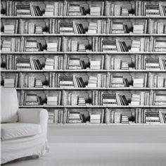 Photocopy Bookshelf Wallpaper For Sale At Bouf